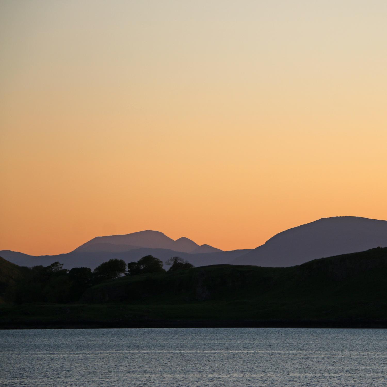 Sunset over Oban Harbour